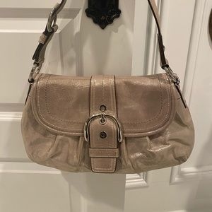 Coach Champagne shimmery Hobo